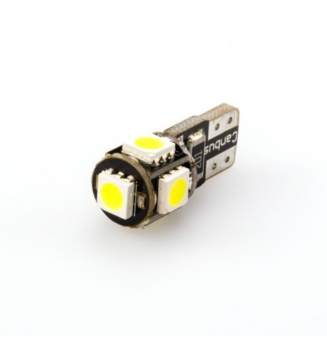 Can Bus led izzó 12V 1.5W T10 5050 5 SMD fehér