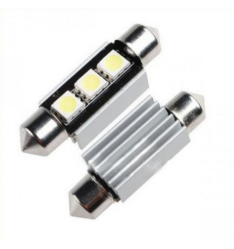 Can Bus led izzó 12V 1.5W Szofita 36 mm 5050 3 SMD fehér