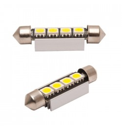 CAN Bus led izzó 12V 2W Szofita 39 mm 5050 4 SMD fehér