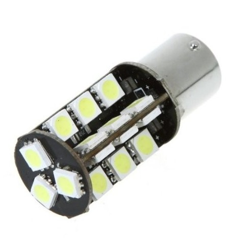 CAN Bus led izzó 12V 5W BA15S 5050 27 SMD fehér