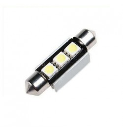 Can Bus led izzó 12V 1.5W Szofita 36 mm 5050 3 SMD kék