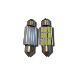 CAN Bus led izzó 12V 3W Szofita 39 mm 5730 9 SMD fehér