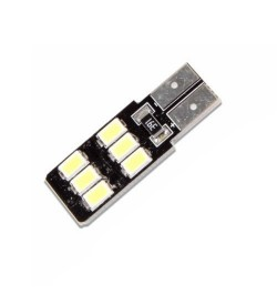 CAN Bus led izzó 12V xW T10 5730 6 SMD lapos