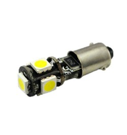 Can Bus led izzó 12V 1.5W BA9S 5050 5 SMD fehér