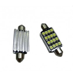 Can Bus led izzó 12V 2,5W Szofita 39 mm 3528 (1210) 16 SMD piros